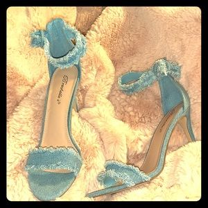 Blue jean heels